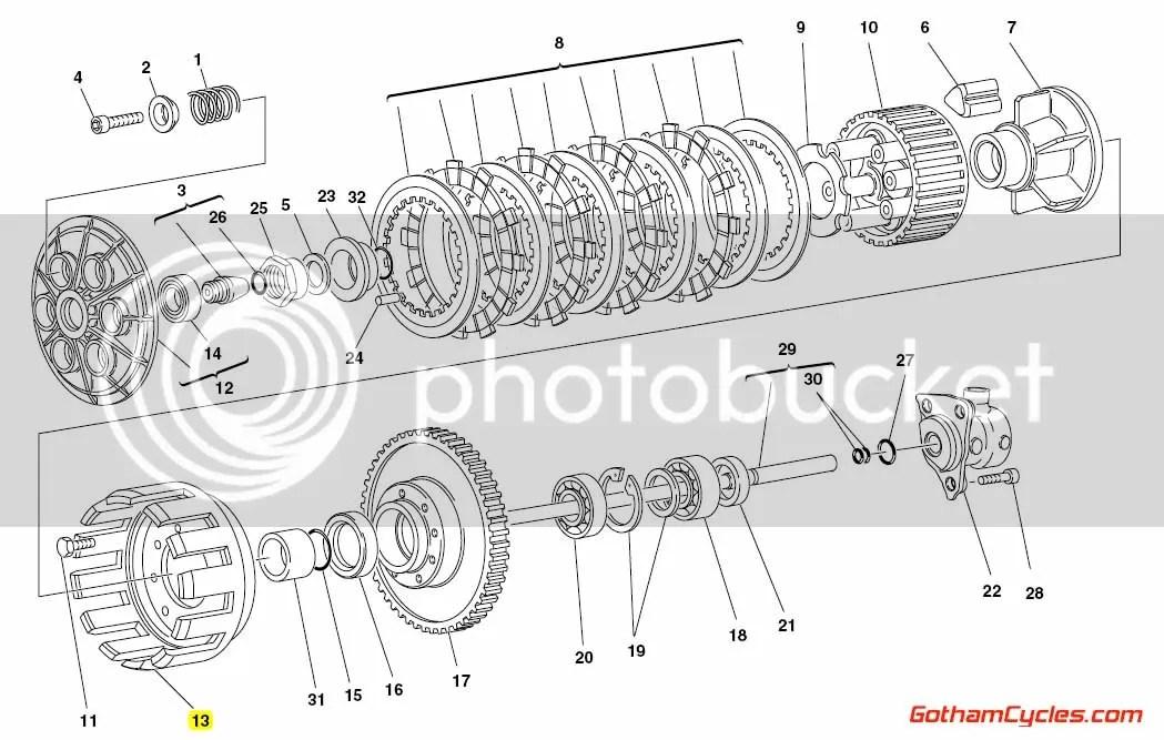 Ducati Aluminum Clutch Basket 19810291A 748 748S 916