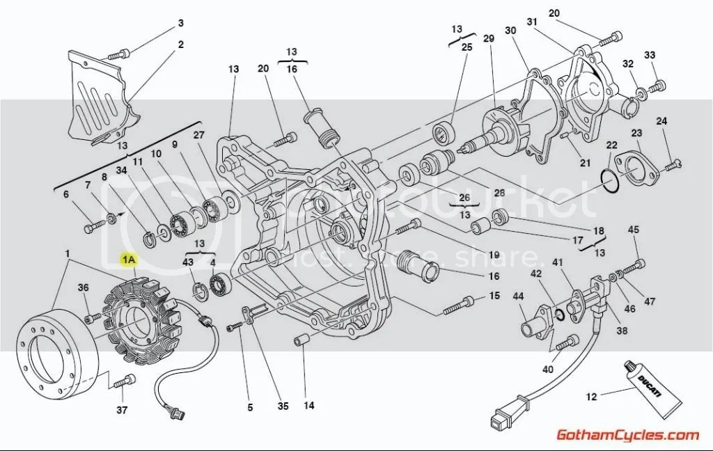 Ducati Stator Alternator Generator Late Style: 748-996