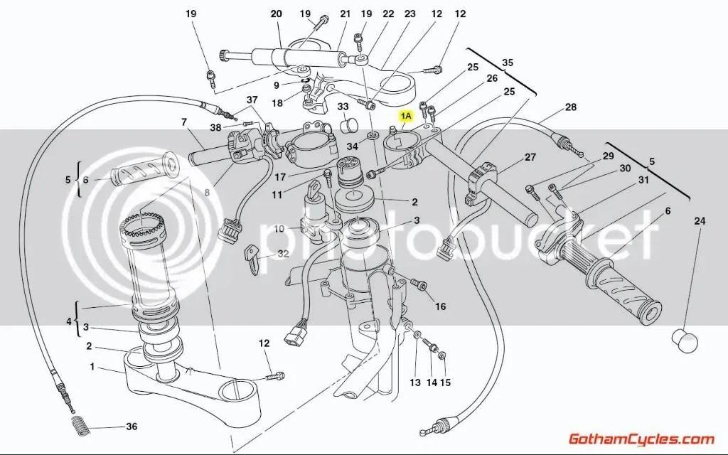 Ducati Right Clip On Late Style: 748-998 MH900E MH900e