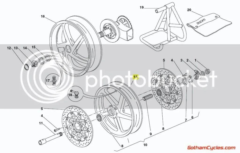 Ducati Marchesini 5 Spoke Aluminum Front Wheel: 748-999