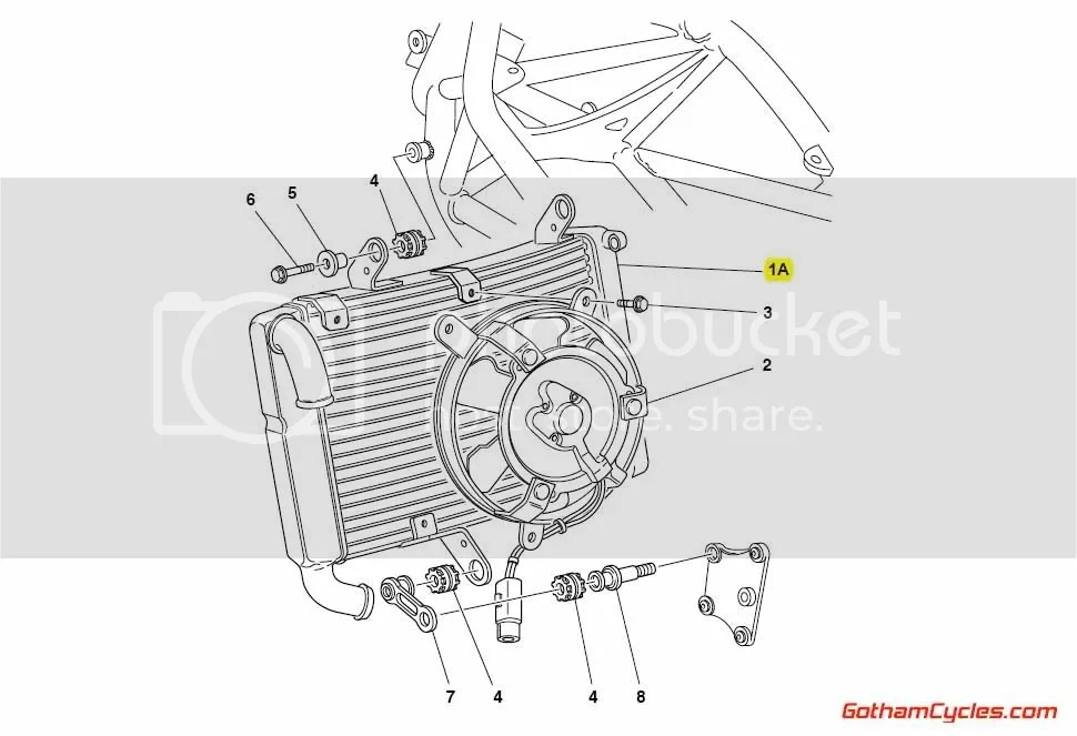 Ducati Radiator: 748-996 SUPERBIKE 748 748S 748R 916