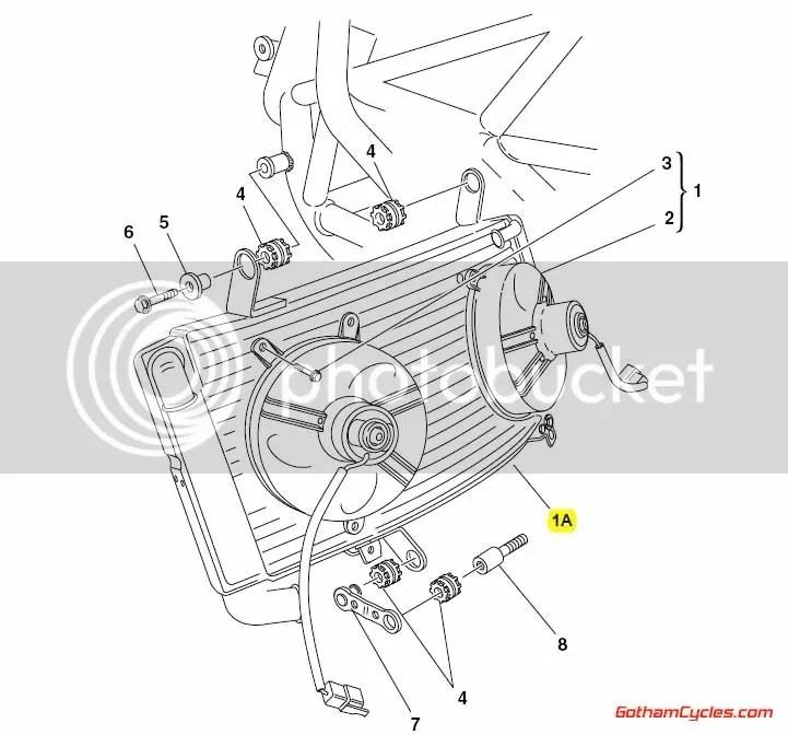 Ducati Radiator: 998 SUPERBIKE 996R 998 998S Bostrom