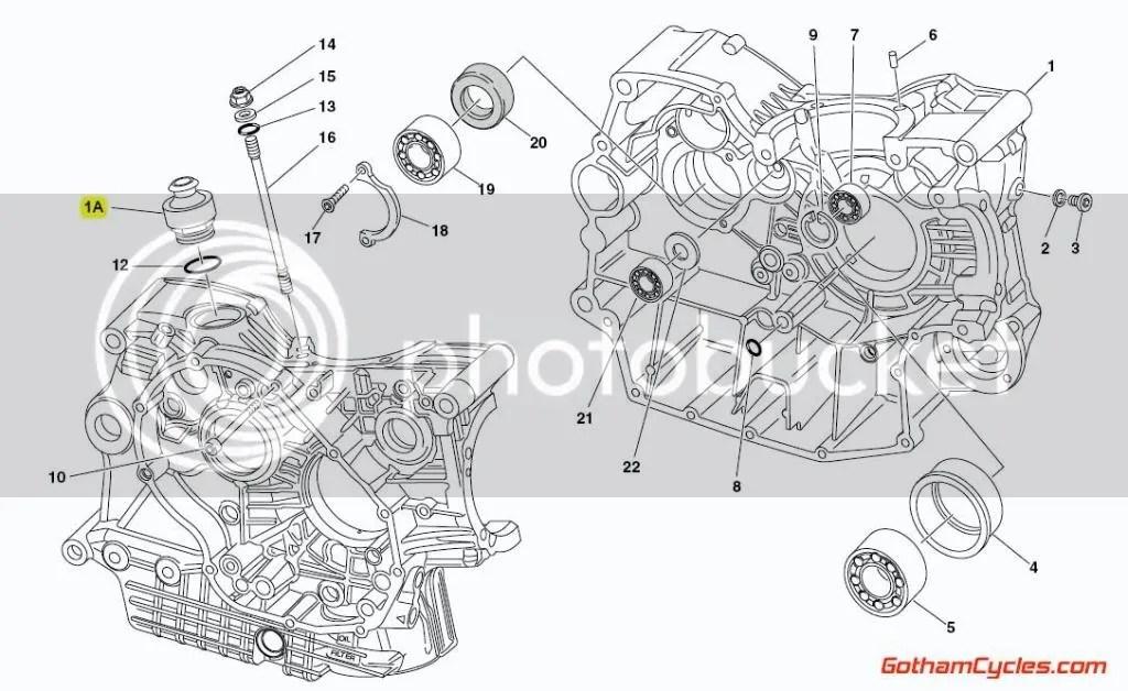 Ducati Oil Crankcase Breather Late Style SUPERBIKE 748