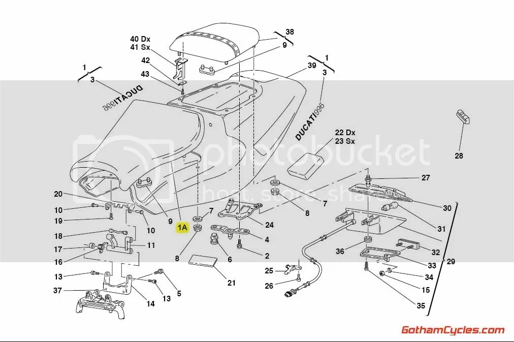 Ducati Biposto Front Seat: 748-998 SUPERBIKE 748 748S 916