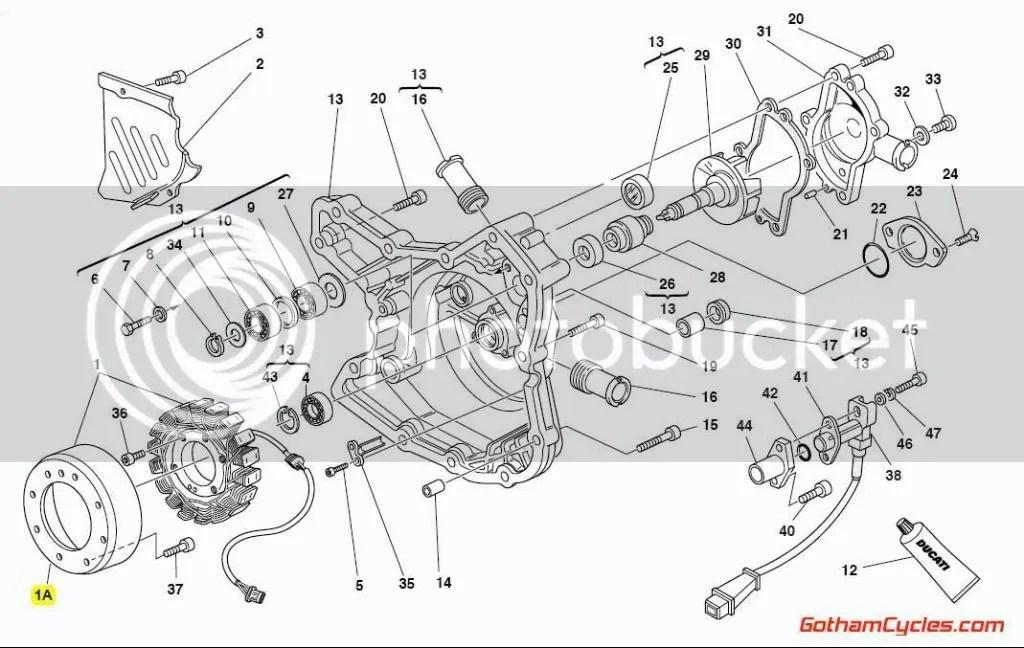 Ducati Stator Alternator Generator Rotor Late Style: 748