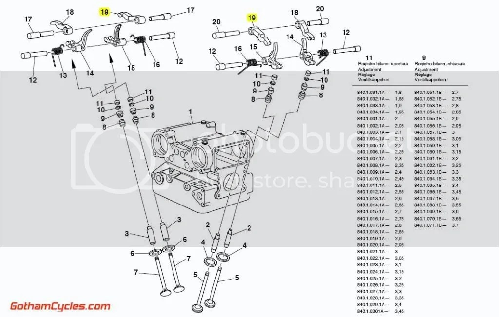 Ducati Right Hand Opening Rocker Arm: rockers 748-996, ST4