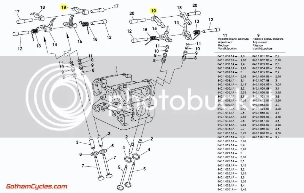 Ducati Right Hand Opening Rocker Arm: rockers 748-996, ST4
