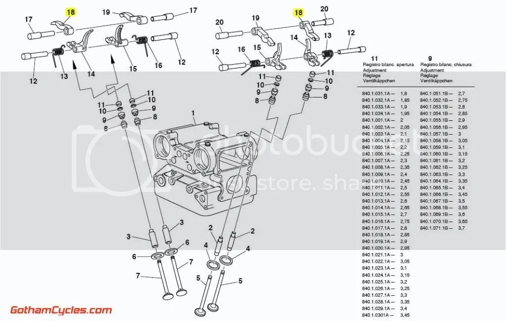 Ducati Left Hand Opening Rocker Arm: rockers 748-996, ST4