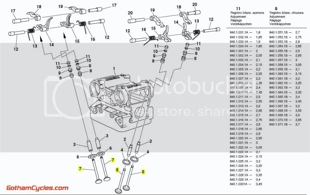 Ducati Intake and Exhaust Valves: 748/916 SUPERBIKE 748