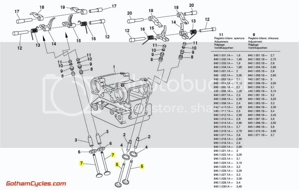 Ducati Intake and Exhaust Valves 36mm/30mm: 748R/996