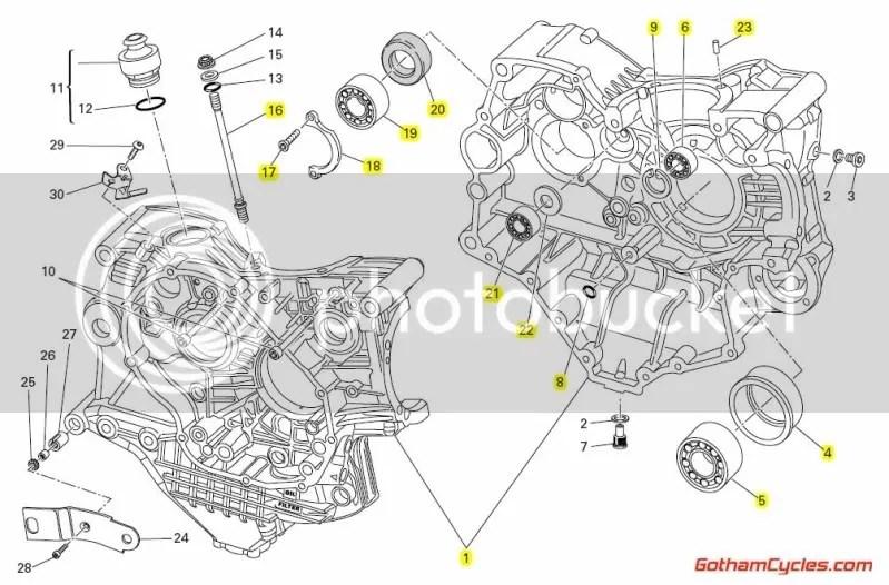 Ducati Crankcases Deep Sump: 999/999S SUPERBIKE 999 999S