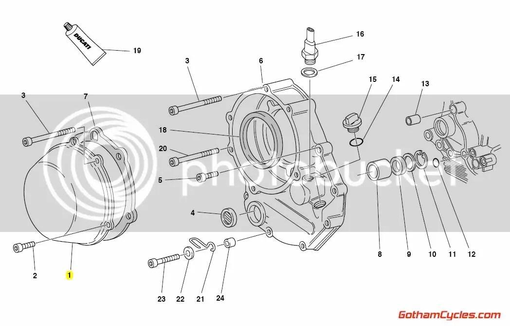 Ducati Engine Cover Clutch Side Grey SUPERBIKE 748 748S