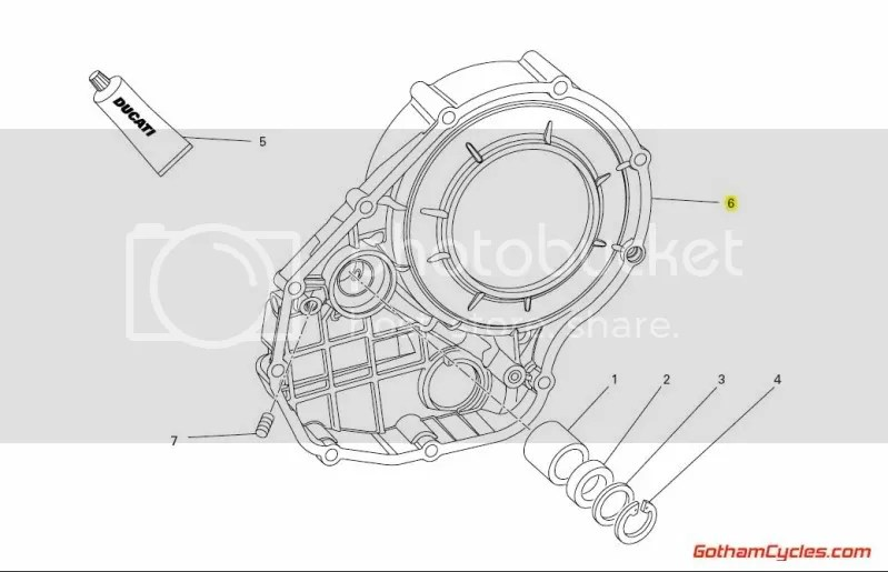 Ducati Right Side Engine Clutch Cover: 1098 SUPERBIKE 1098