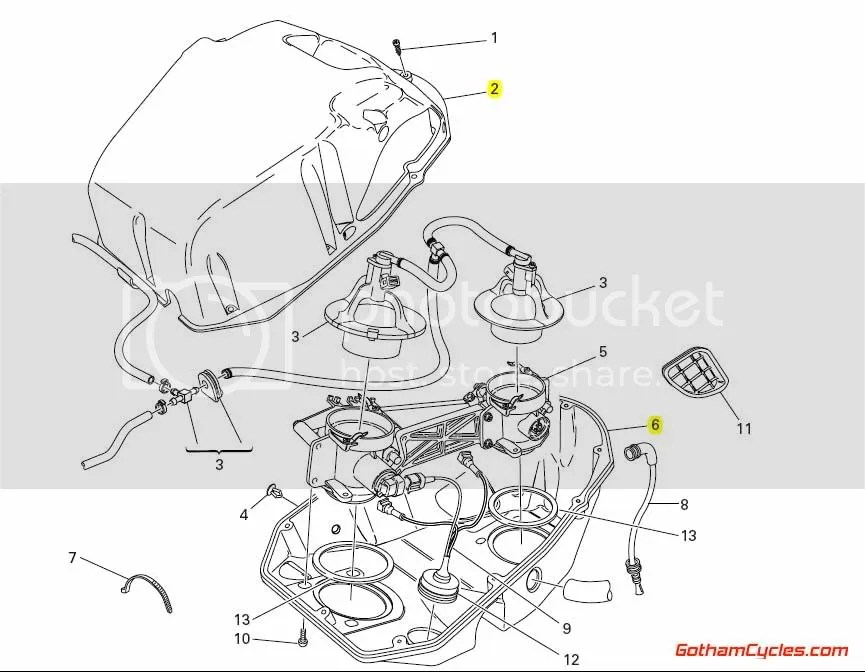 Ducati Airbox: 749/999 SUPERBIKE 749 749S 749R 999 999S
