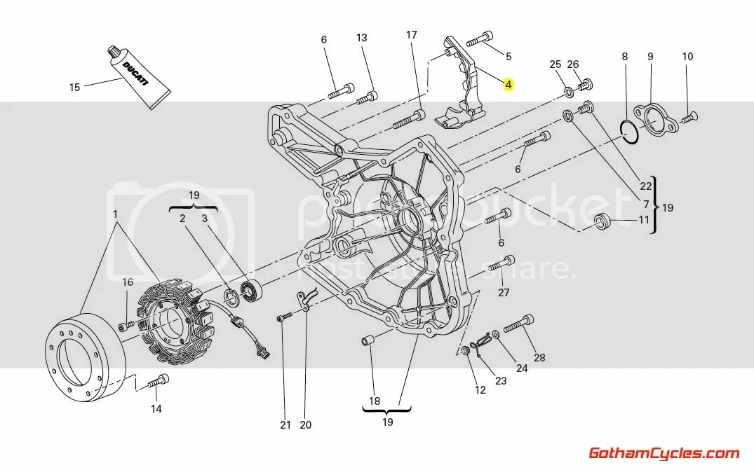 Ducati Front Sprocket Cover: Hypermotard, Multistrada