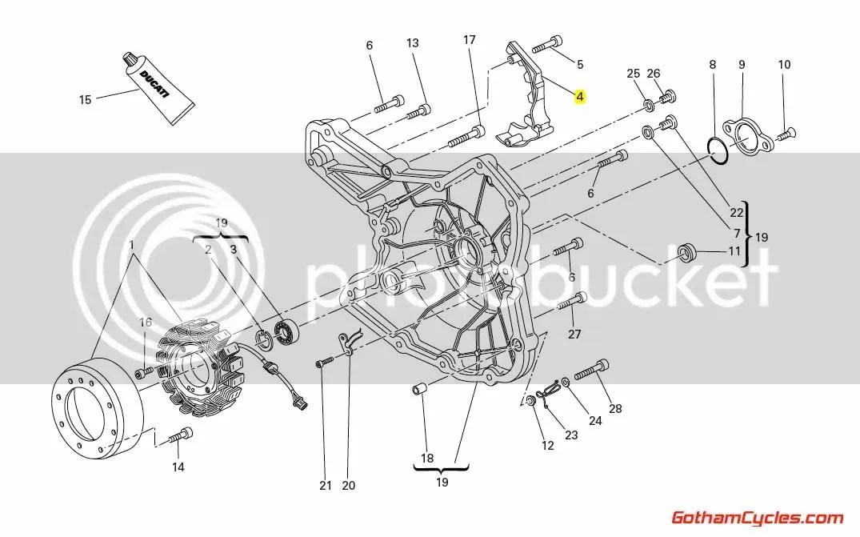 Ducati Front Sprocket Cover: Hypermotard, Multistrada