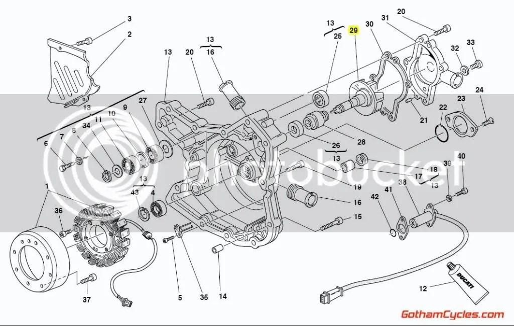 Ducati Water Pump Fan Impeller: 748/996, ST2/ST4 SUPERBIKE