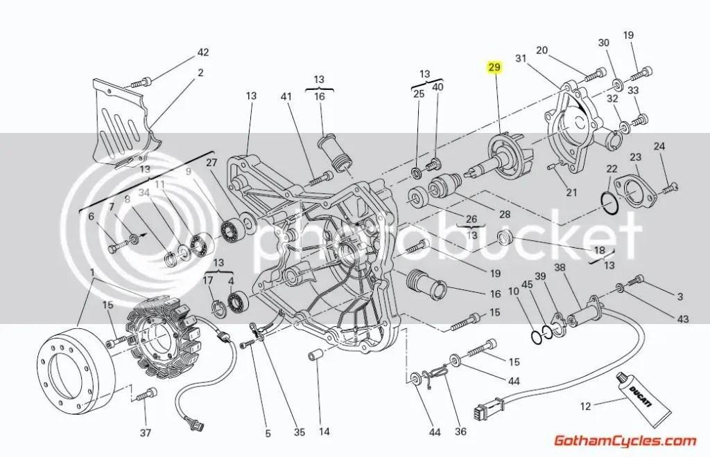 Ducati Water Pump Fan Impeller: 749/999,848/1098 SUPERBIKE