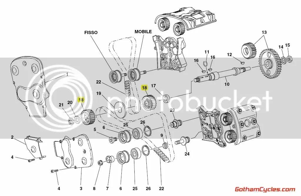 Ducati Timing Belt Gears Early Style Testastretta