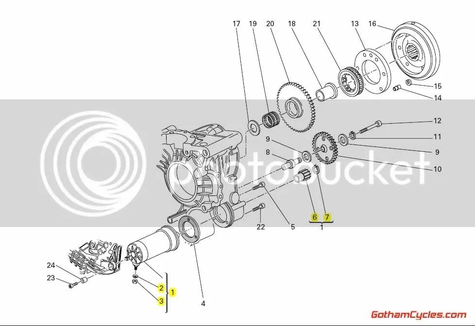 Ducati Starter Motor Late Style SUPERBIKE 998R 998 Matrix