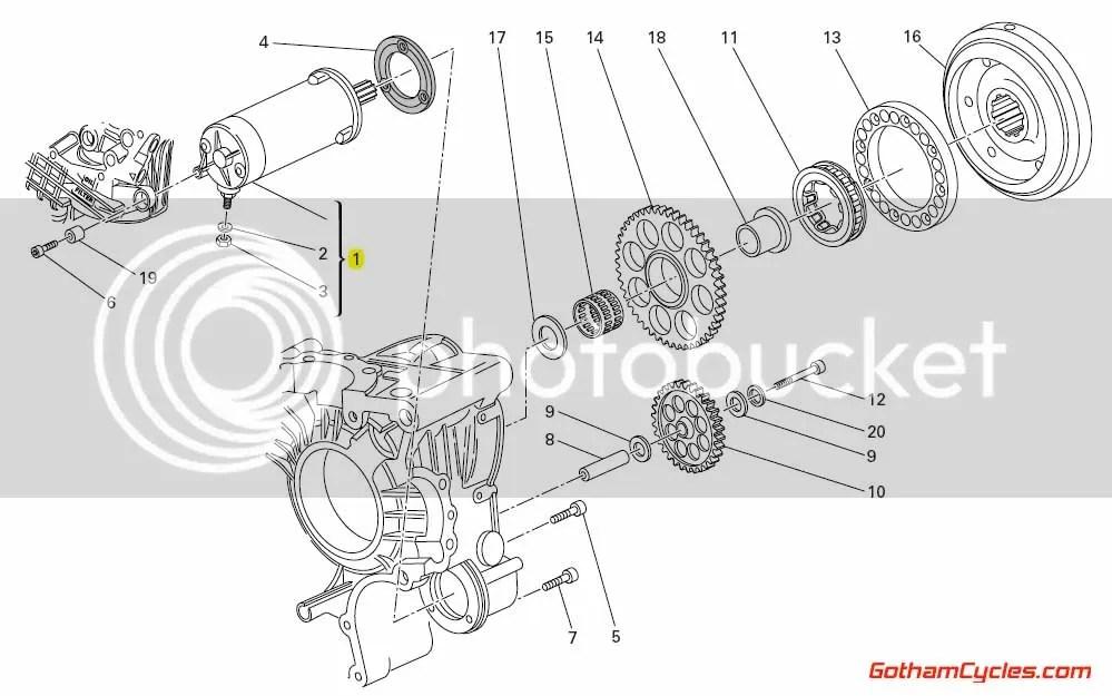 27040103A Ducati Starter Motor: 848 1098 1198 1098s 1198s