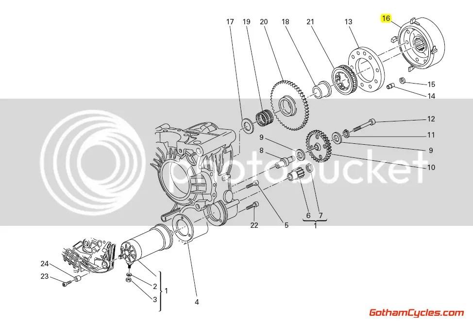 Ducati Flywheel 3 Phase: 749R SUPERBIKE 749R 27610411A