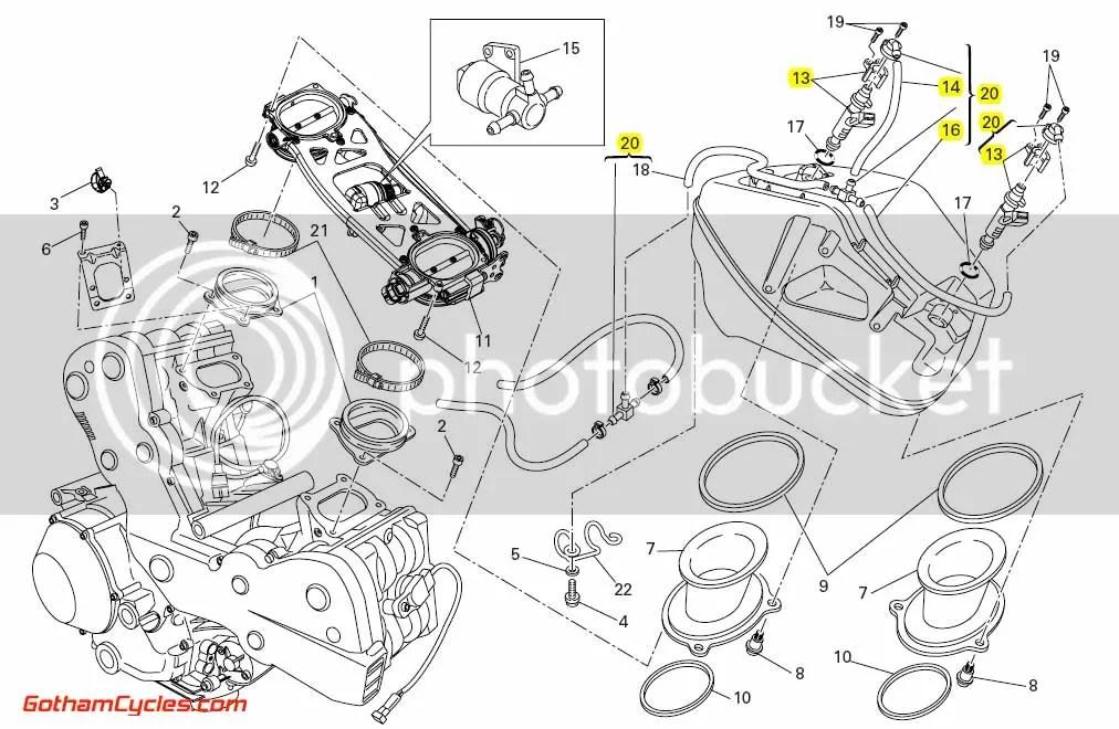 Ducati Fuel Injectors & Fuel Lines: 848-1198 SUPERBIKE 848