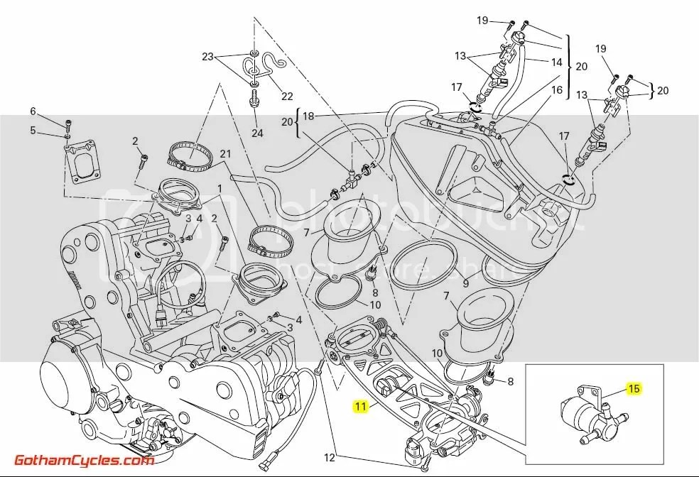 Ducati Throttle Bodies: 1098 SUPERBIKE 1098 1098S 1098S