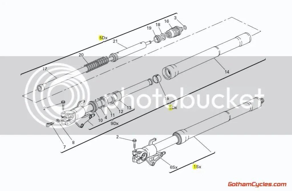 Ducati Showa Front Forks: 749 SUPERBIKE 749 34022381B