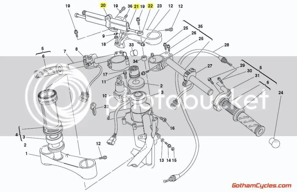 Ducati Ohlins Steering Damper: 748-998,1098 SUPERBIKE 748