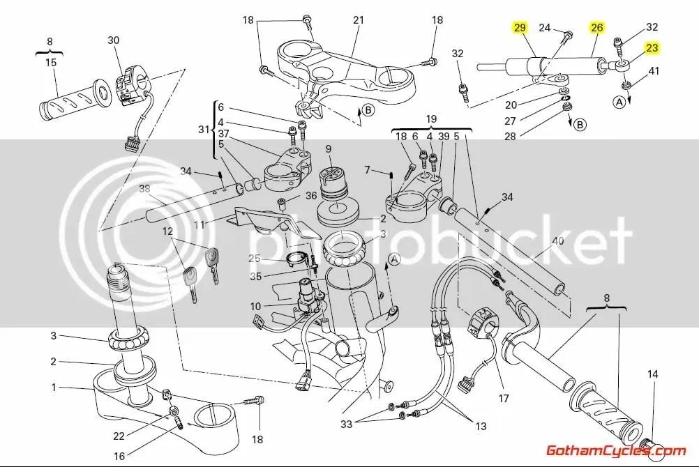 Ducati Steering Damper: 1098 SUPERBIKE 1098 36420071A