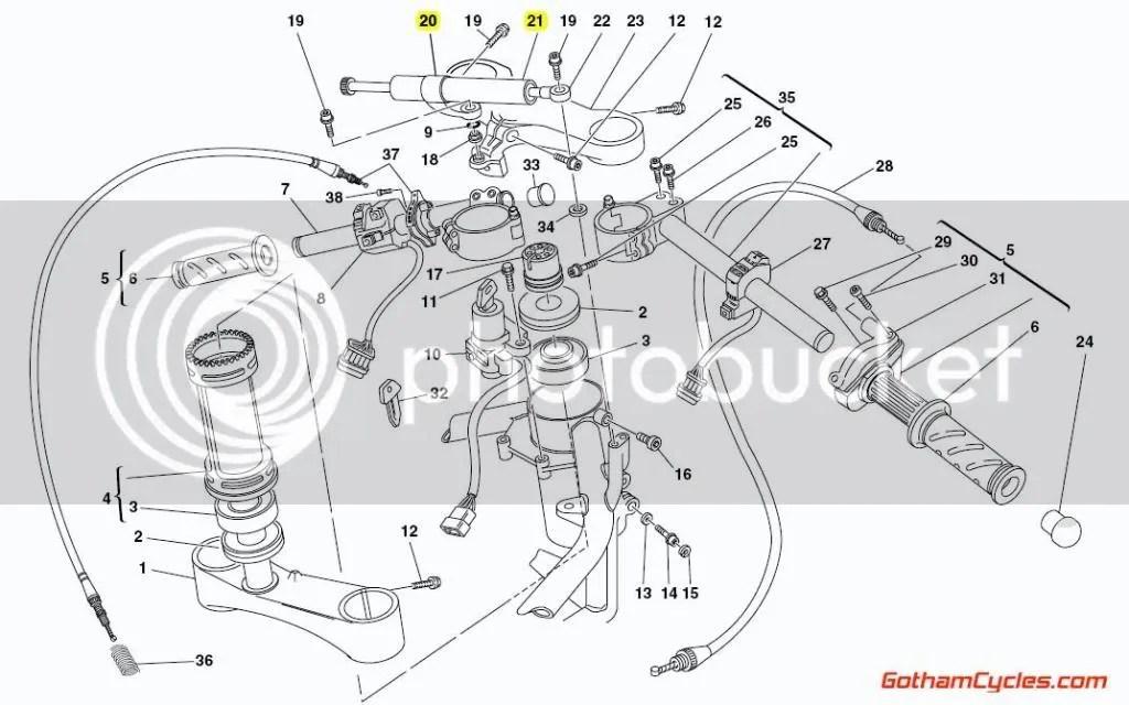 Ducati Steering Damper: 748-998 SUPERBIKE 748 748S 748R