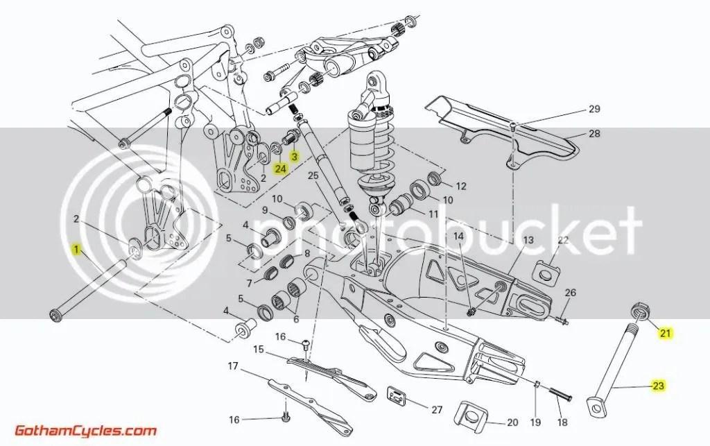 Ducati Swingarm Pivot Bolt: 749/999 SUPERBIKE 749 749S