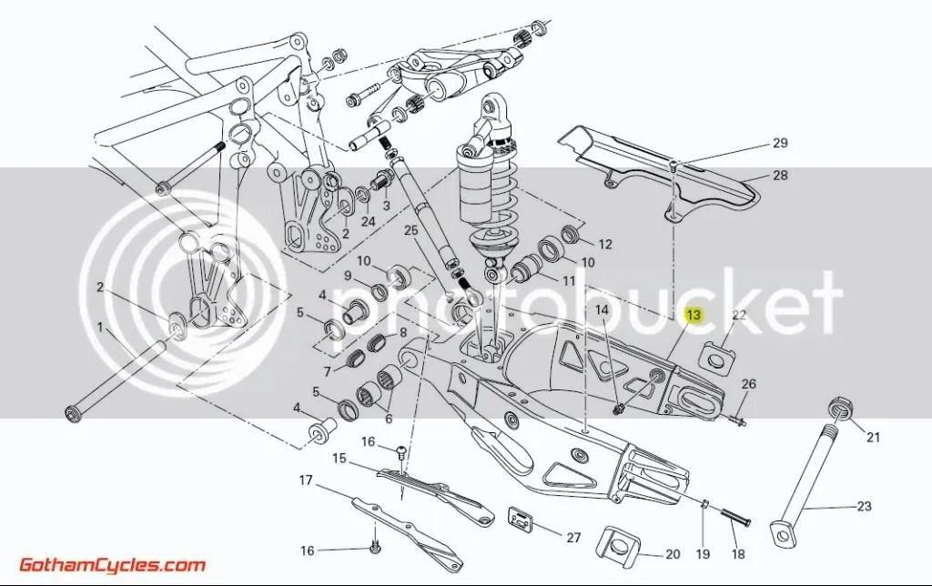 Ducati Double Sided Swingarm Late Style: 749/999 SUPERBIKE