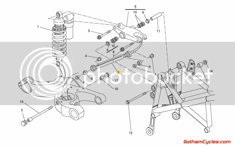Ducati Tie Rod: Hypermotard 37220521A HYPERMOTARD HM796 HM1100