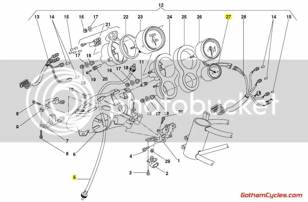 Ducati Temperature Gauge: 748-998 SUPERBIKE 748 748S 748R