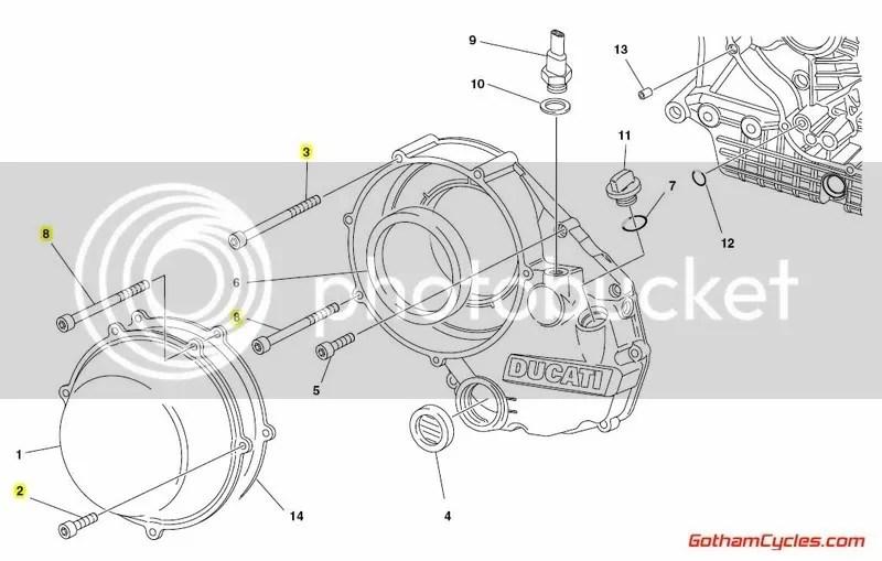 Ducati Dry Clutch Cover Bolts SUPERBIKE 748 748S 748R 916