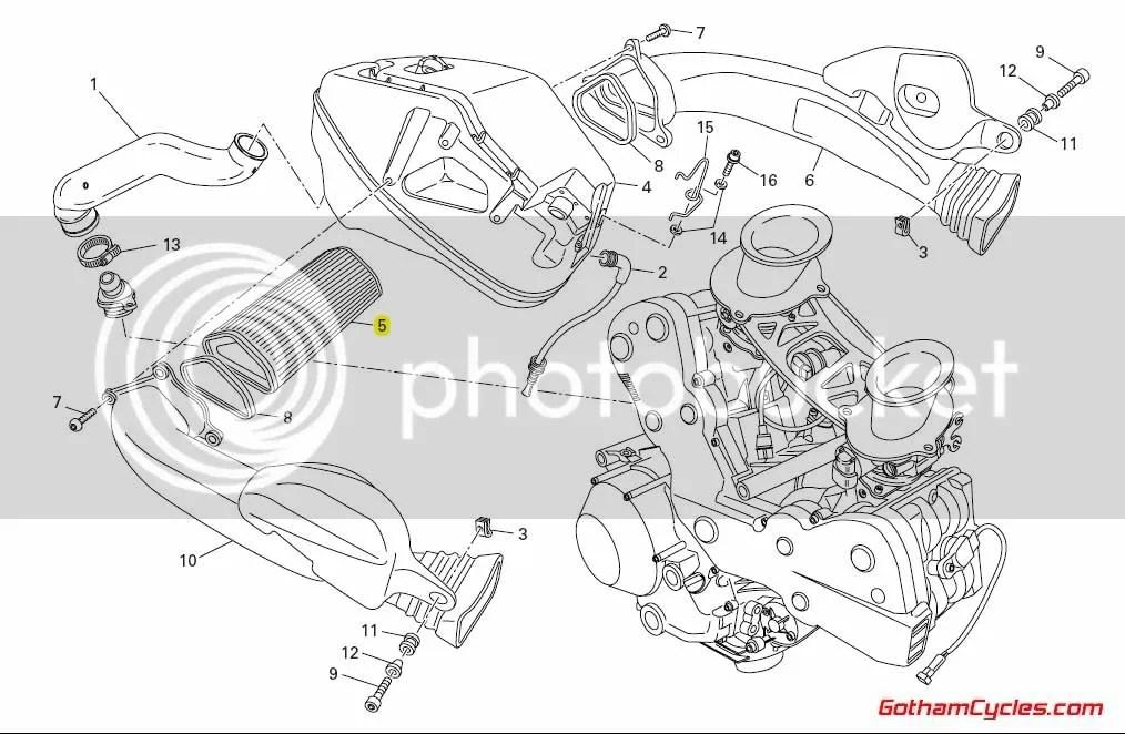 Ducati Air Filter: 848/1098 SUPERBIKE 848 1098 1098S 1098S