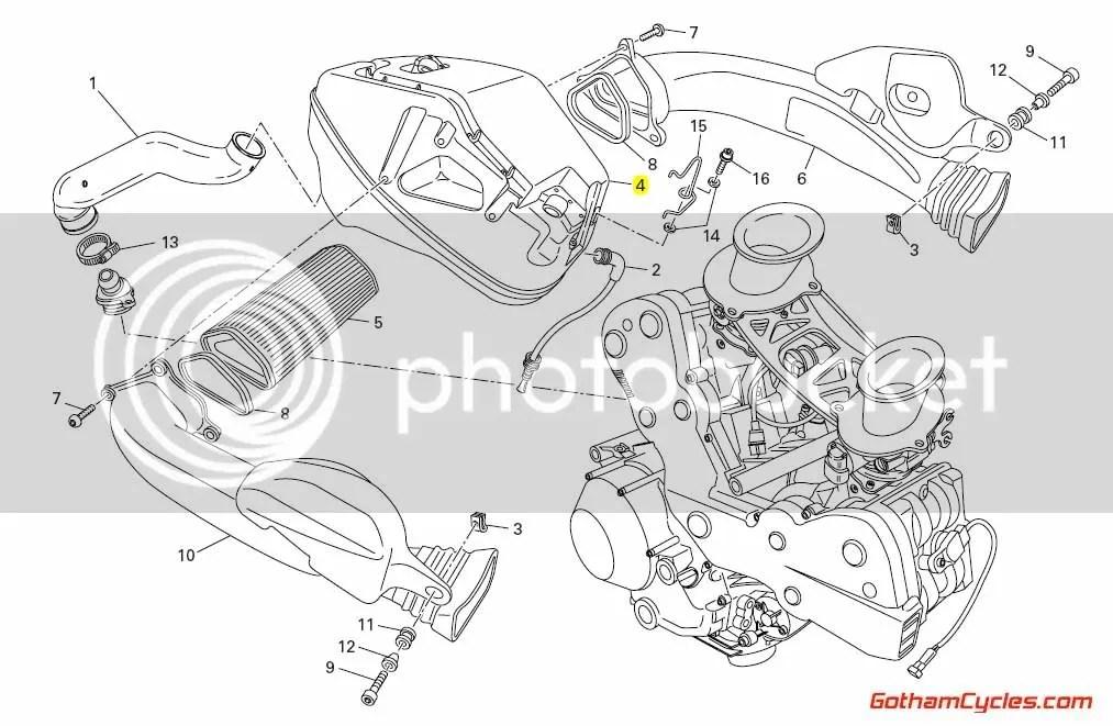 Ducati Airbox: 848/1098 SUPERBIKE 848 1098 1098S 1098S