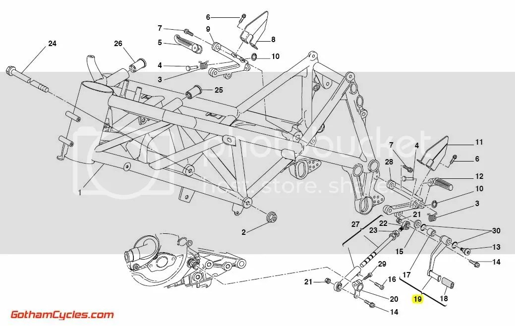 Ducati Gear Shifter Lever: 749/999 SUPERBIKE 749 749S 749R