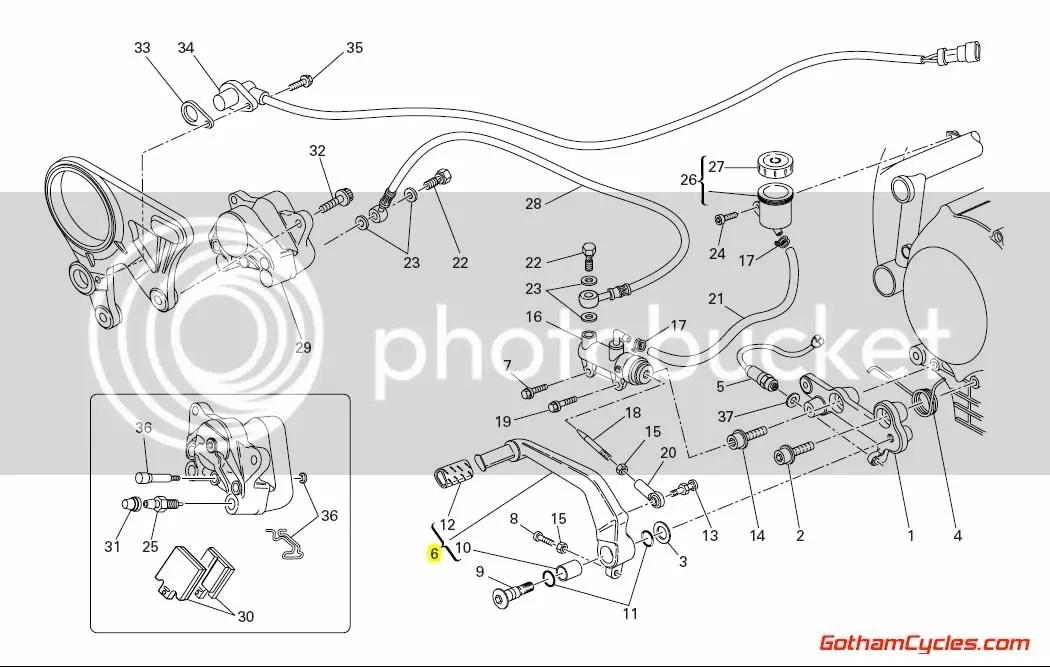 Ducati Rear Brake Lever: 848/1098 SUPERBIKE 848 1098 1098S