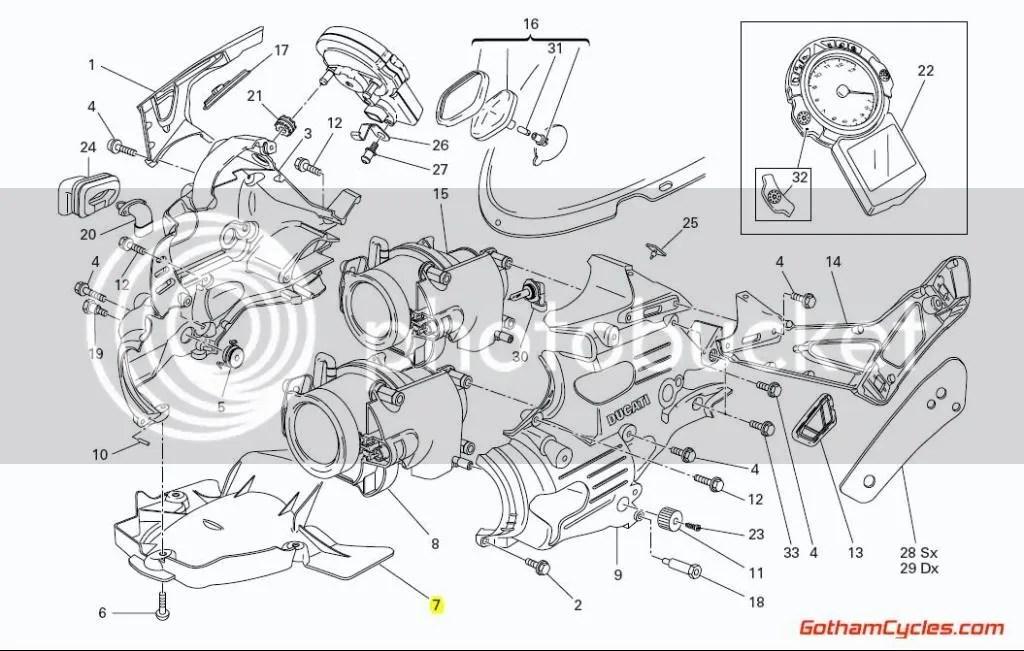 Ducati Headlight Lower Panel: 749/999 SUPERBIKE 749 749S