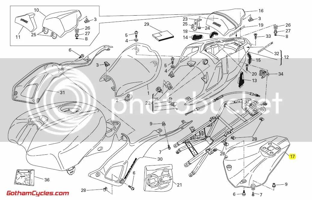 Ducati Tail Guard Heat Shield: 848/1098 SUPERBIKE 848 1098