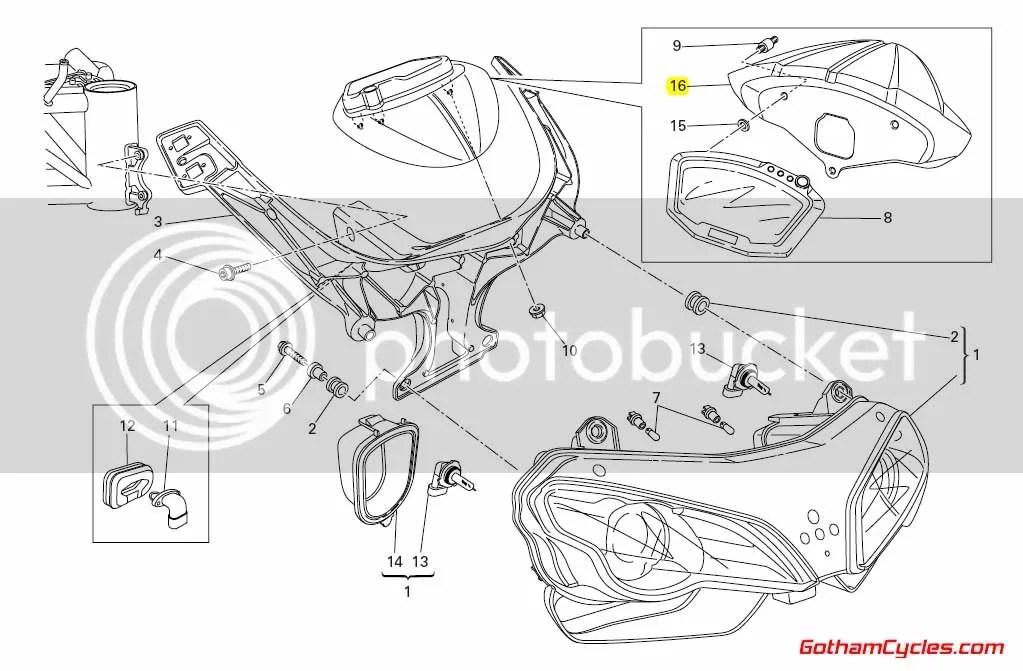 Ducati Instrument Guages Cover: 848/1098 SUPERBIKE 848