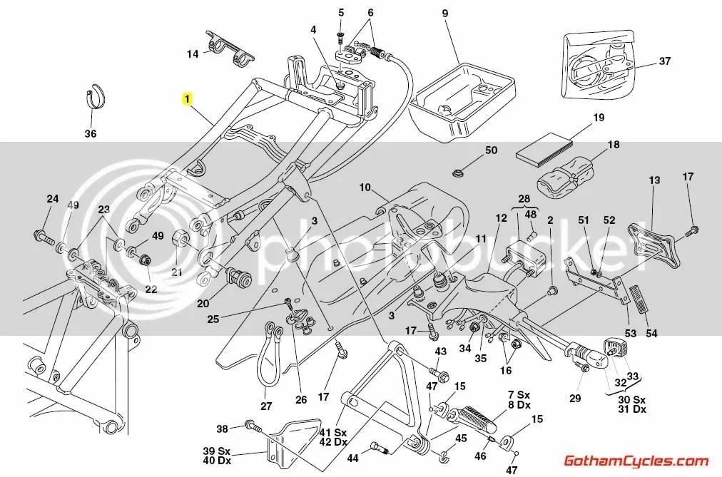 Ducati Biposto Subframe Grey: 748-998 SUPERBIKE 748 748S
