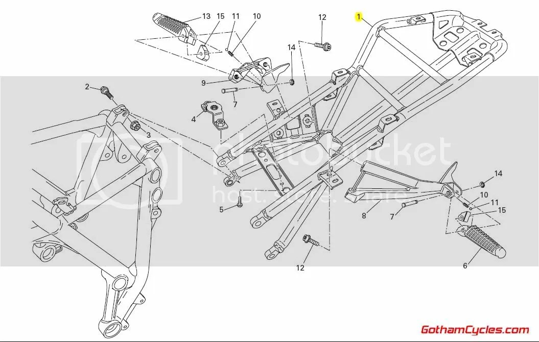 Ducati Biposto Subframe: 848/1098 SUPERBIKE 848 1098 1098S