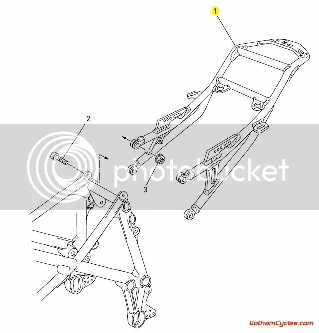 Ducati Aluminum Monoposto Subframe: 749/999 SUPERBIKE 749