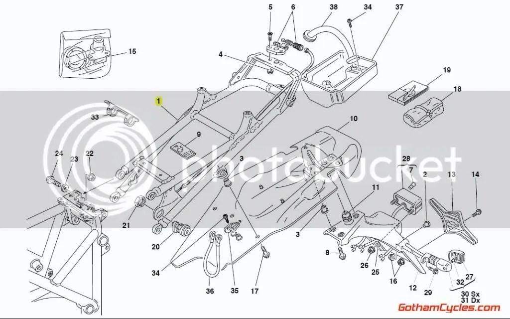 Ducati Aluminum Monoposto Subframe 1.6 Style: 748-998