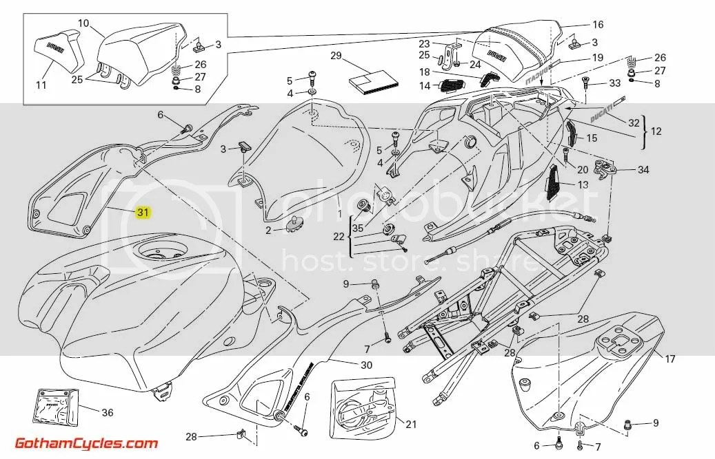 Ducati Right Side Body Panel: 848/1098 SUPERBIKE 848 1098