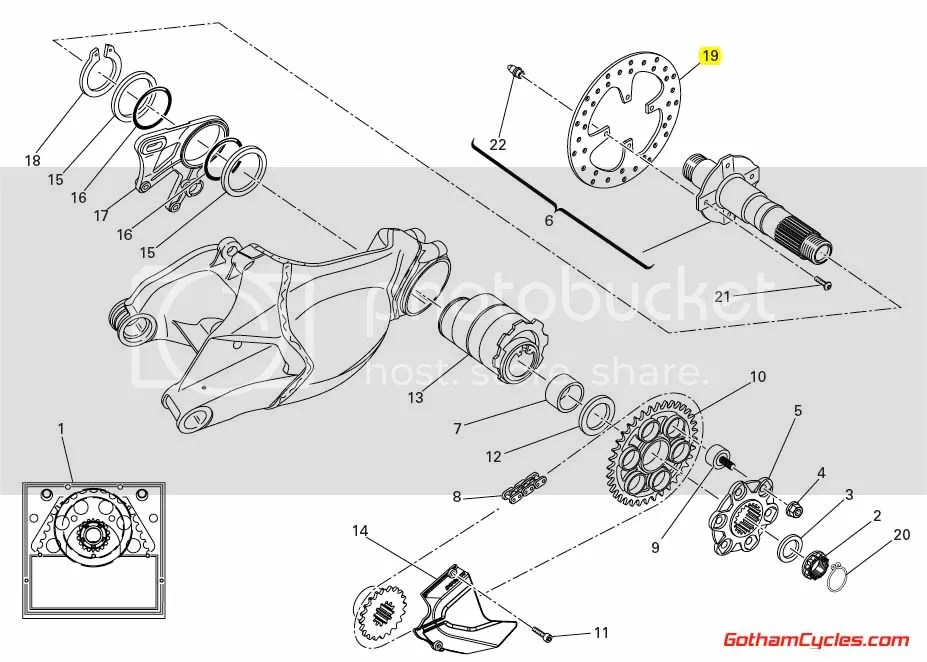 Ducati Rear Brake Rotor: 1098/1198 SUPERBIKE 1098 1098S